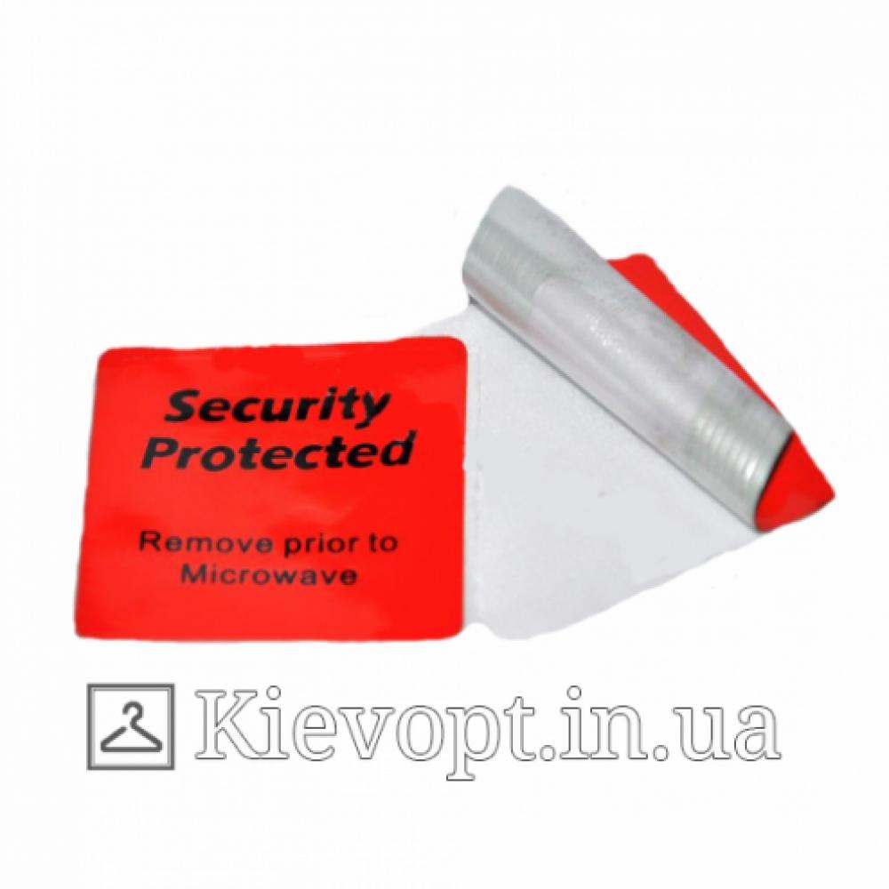 Этикетка Радиочастотная 4*4СМ (рулон 1000 шт) красного цвета для охлажденных продуктов
