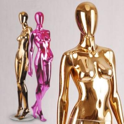 Золотые серебряные зеркальные женские манекены