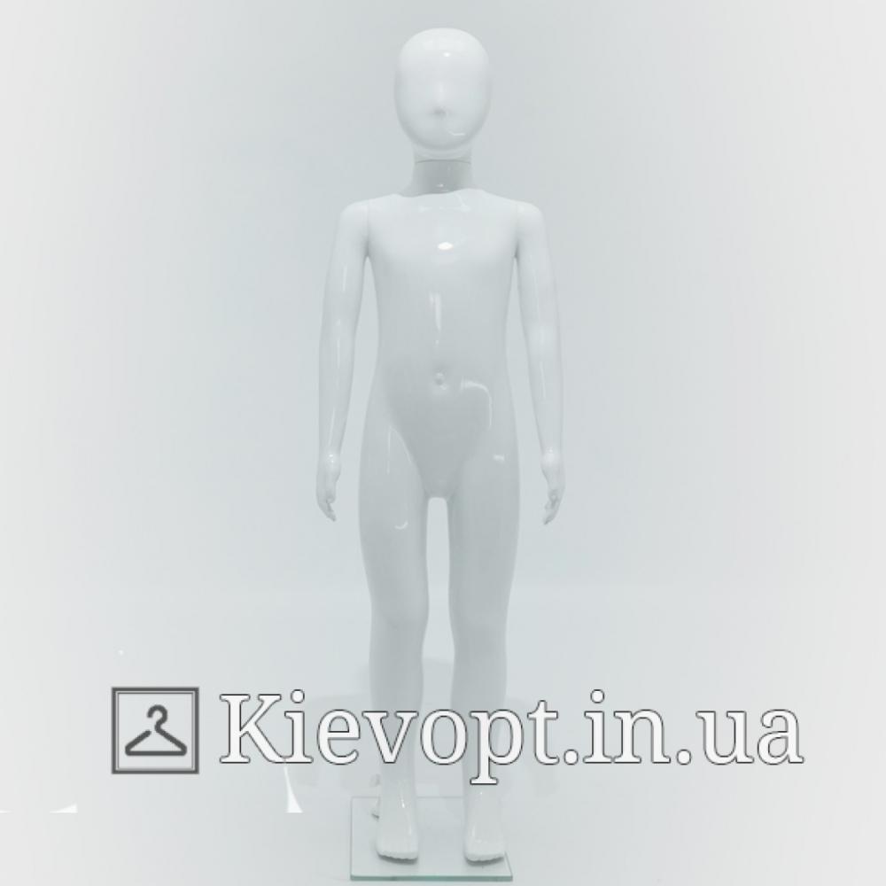 Манекен детский белый в полный рост, 110 см (103-01-95)