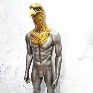 Манекен мужской глянцевый  с головой орла (102-05-03)