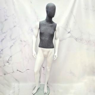 Манекен мужской с тканевым торсом матовый (102-01-17)