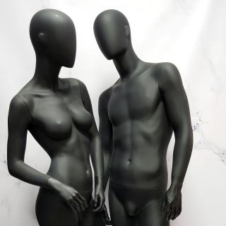 Манекен мужской матовый в полный рост черный (102-01-10)