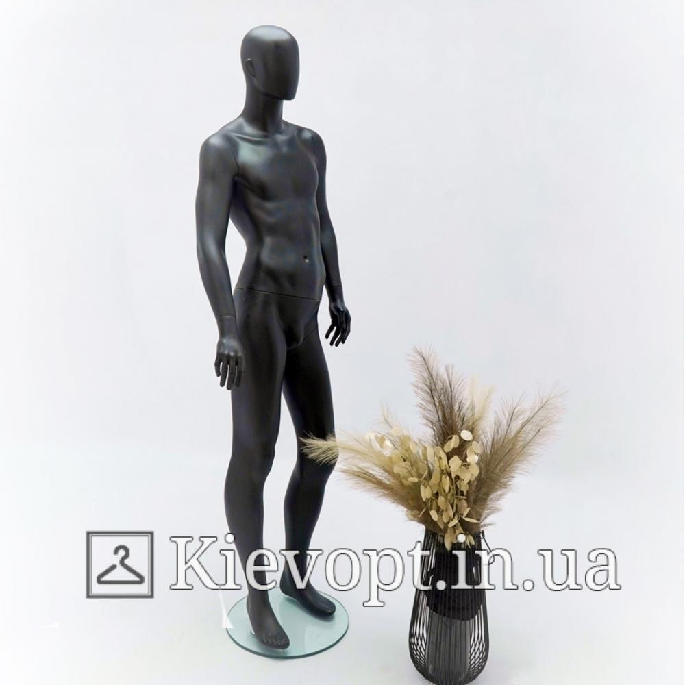 Манекен мужской в полный рост черный глянцевый (102-01-13)