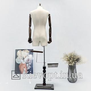 Манекен мужской с гибкими руками для одежды(102-09-08)