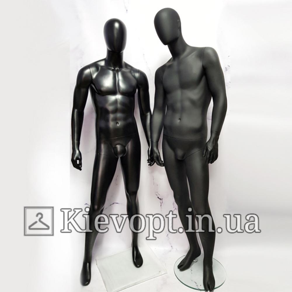 Манекен мужской в полный рост черный матовый (102-01-16)
