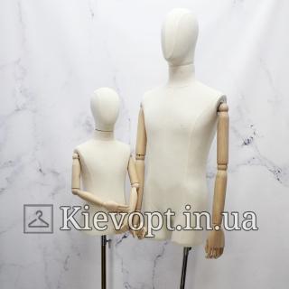 Манекен мужской с деревянными руками на шарнирах (102-09-04)