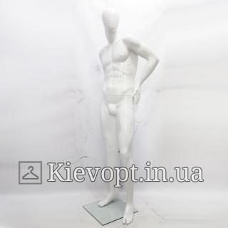 Манекен мужской гипсовый в полный рост белый (102-01-09)