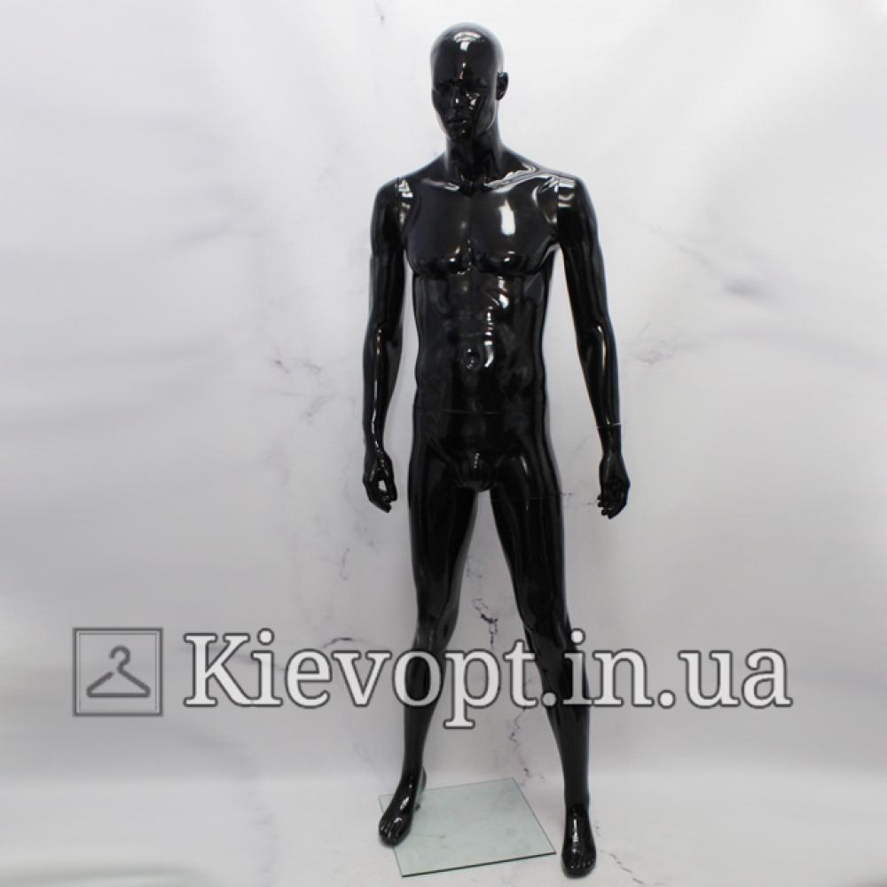 Манекен мужской для магазина в полный рост черный (102-01-12)