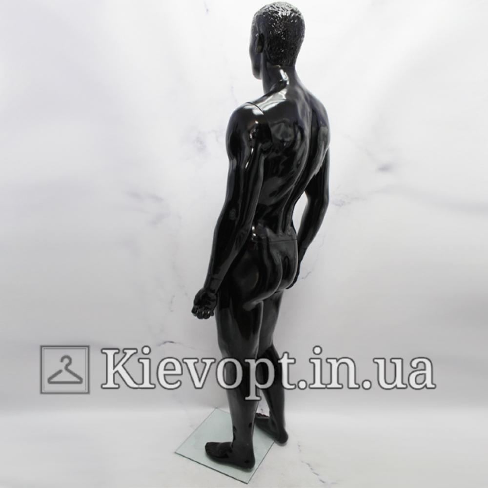 Манекен мужской черный с чертами лица (102-01-14)