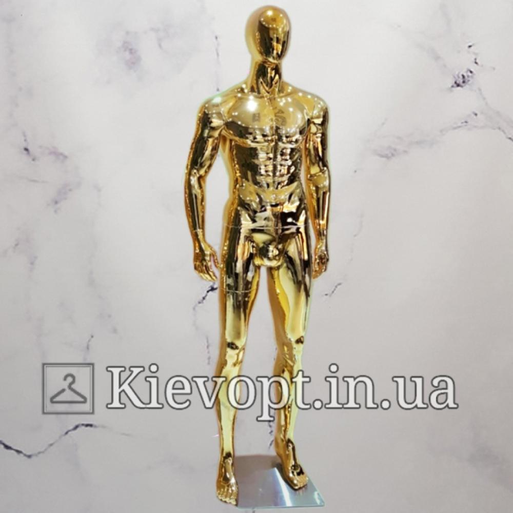 Манекен мужской для магазина одежды золотой (102-04-06)