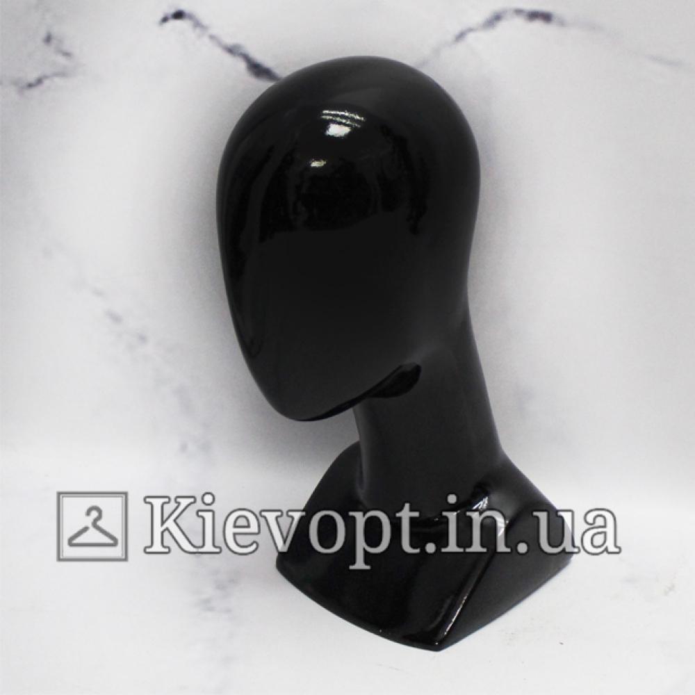 Манекен головы женской для головных уборов черный (106-01-02)