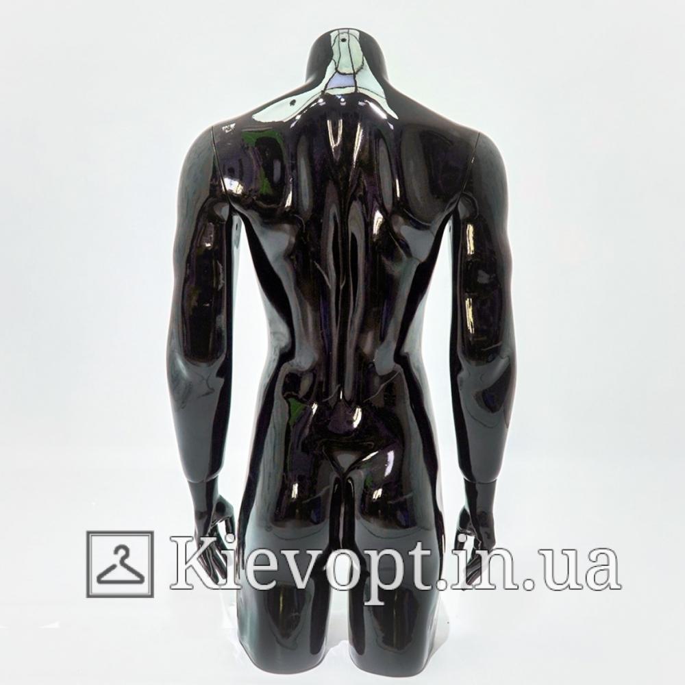Манекен торс мужской черный для магазина одежды (104-01-12)