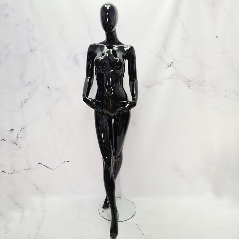 Манекен женский черный  лакированный в полный рост (101-01-20)