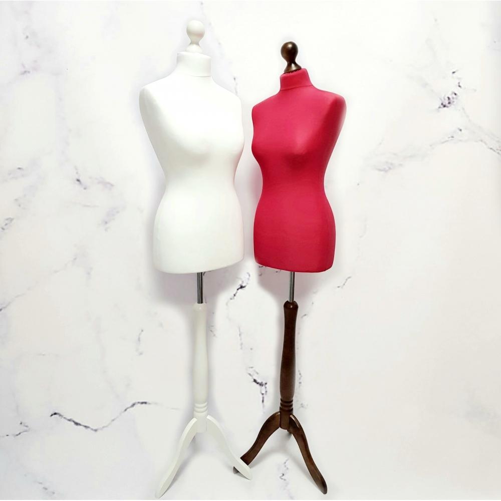Манекен портновский женский пошивочный красный (105-01-05)