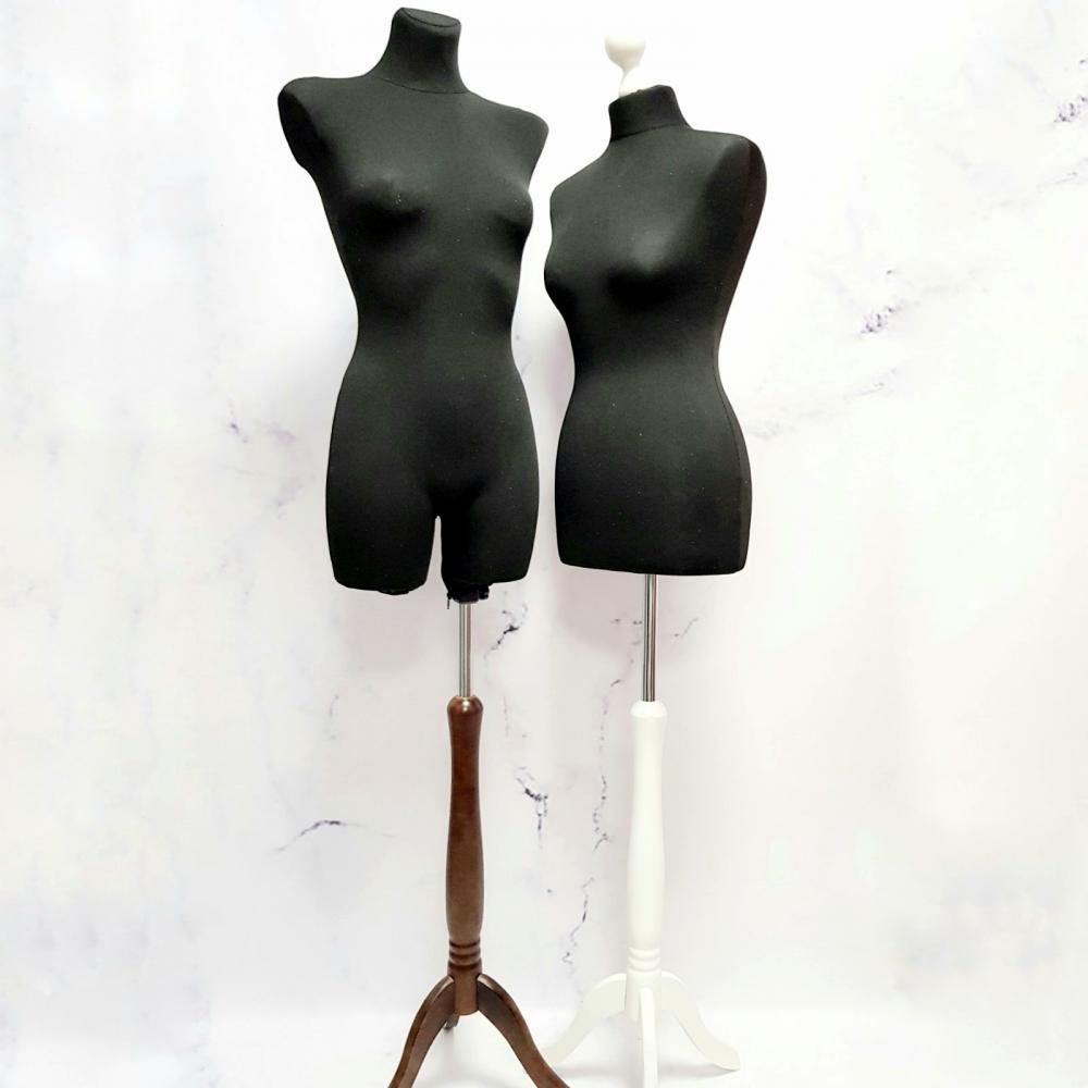 Манекен портновский брючный пенопластовый женский черный (105-02-02)