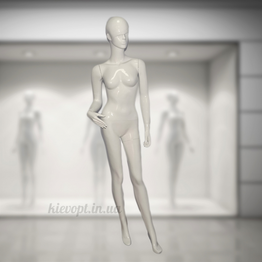 Манекен женский белый со стильной челкой (101-06-02)