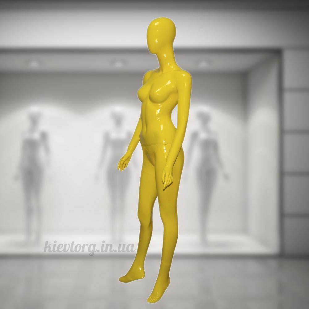 Манекен женский в полный рост стилизованный желтый (101-05-10)
