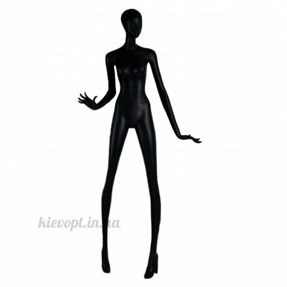 Манекен женский абстрактный матовый черный/белый (101-07-01)