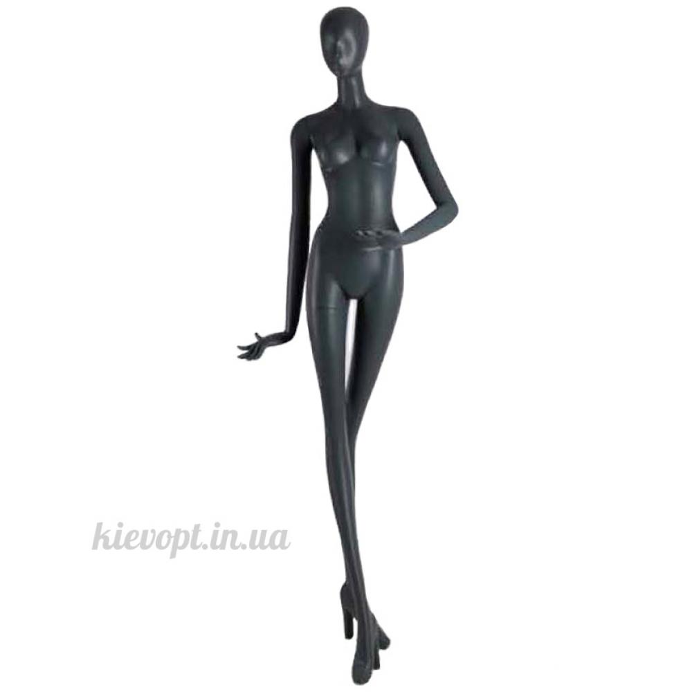 Манекен женский абстрактный высокий глянцевый черный (101-07-08)