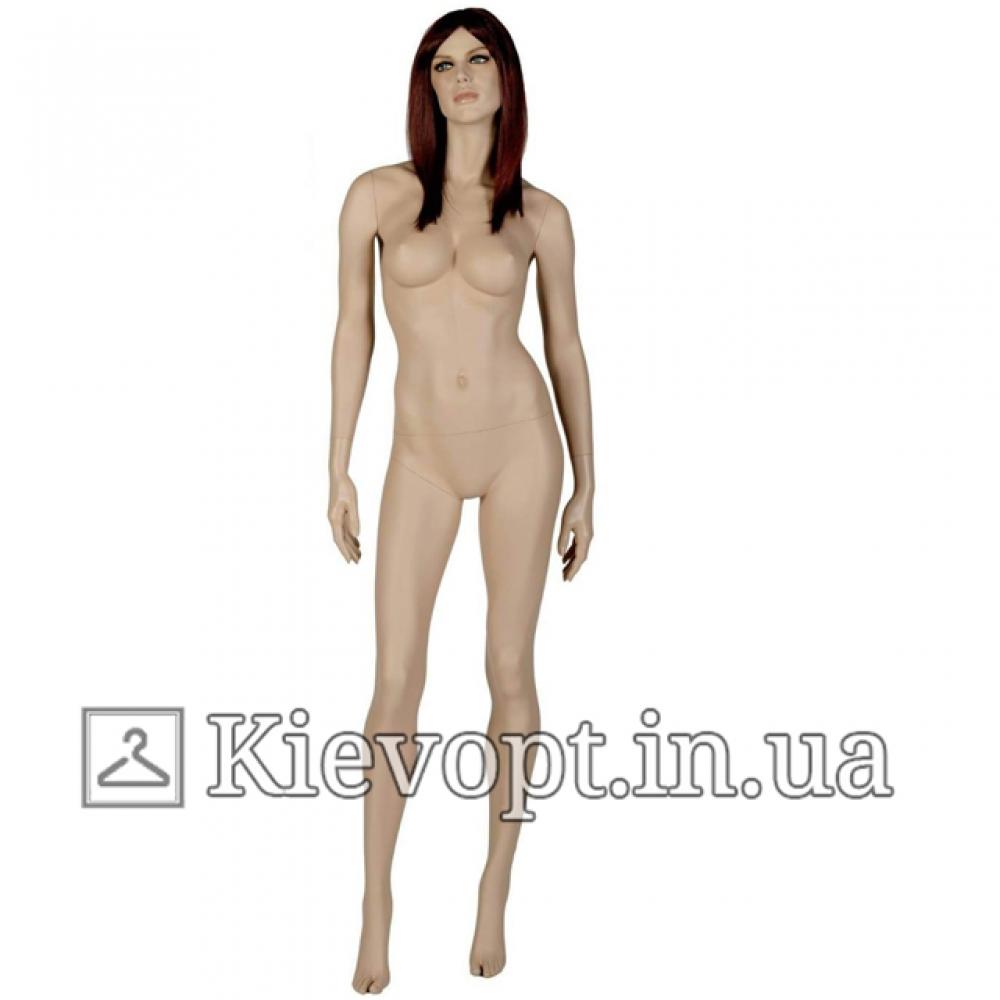 Манекен женский реалистичный с париком (101-08-02)