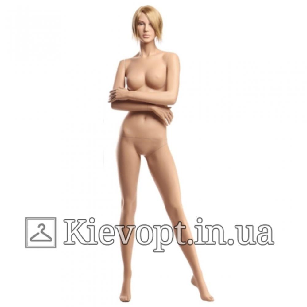 Манекен женский реалистичный с париком (101-08-07)