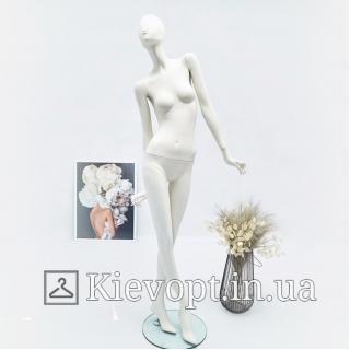 Манекен женский абстрактный матовый высокий белый (101-07-13)