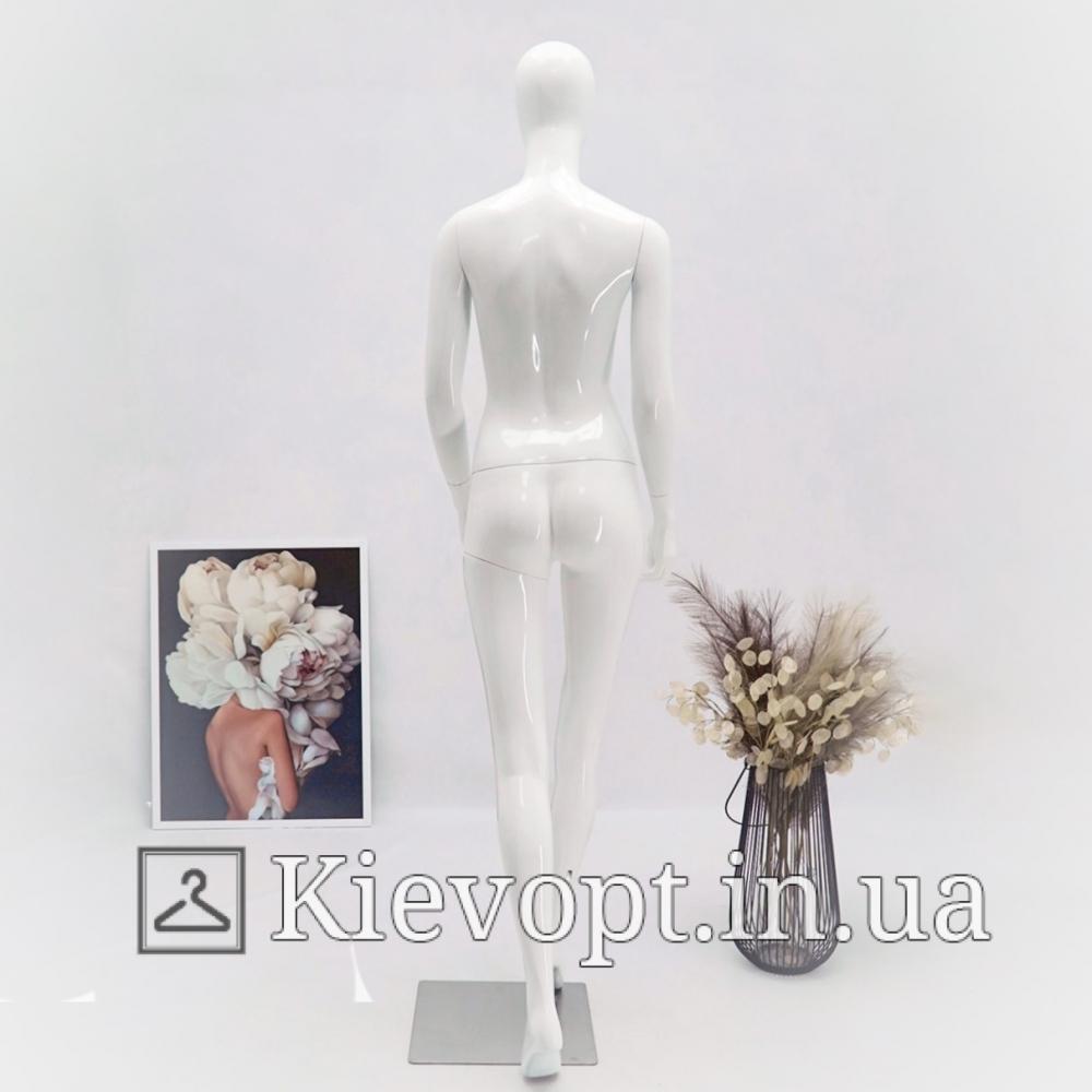 Манекен женский глянцевый в движении белый (101-01-27)