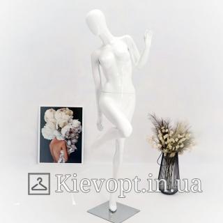 Манекен женский глянцевый белый/черный/ (101-01-35)