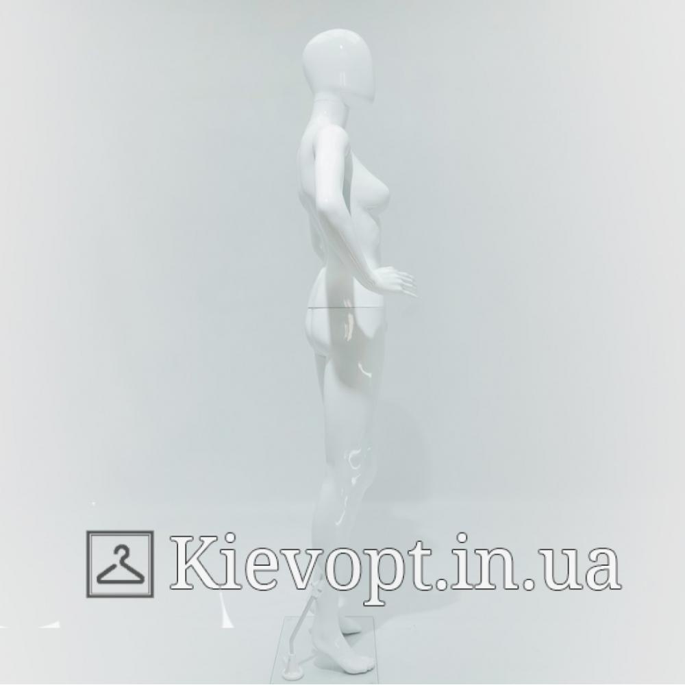Манекен женский белый лакированный торговый (101-01-60)