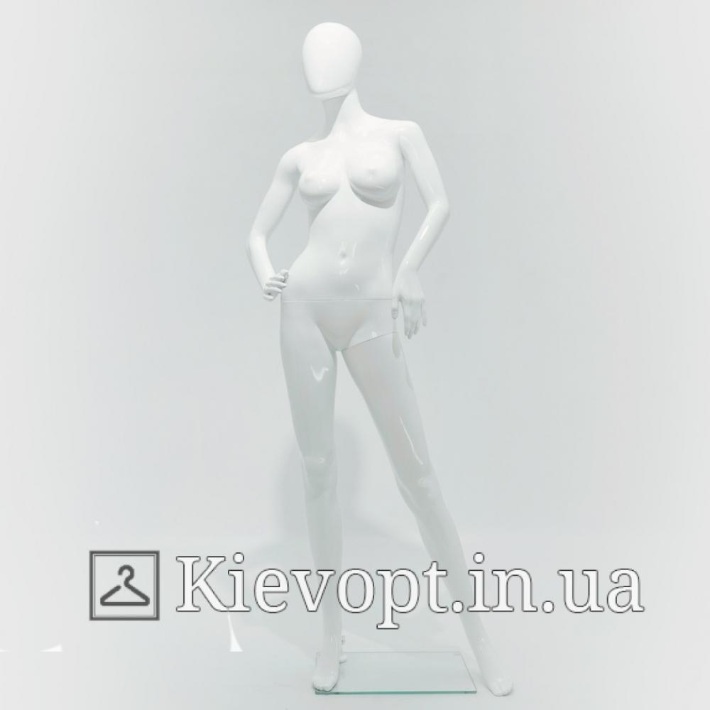 Манекен женский белый лакированный в витрину (101-01-61)