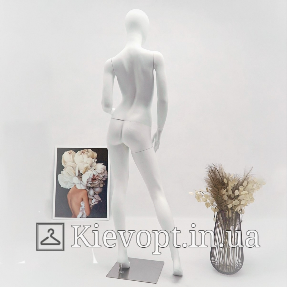 Манекен женский матовый белый  в полный рост (101-01-63)