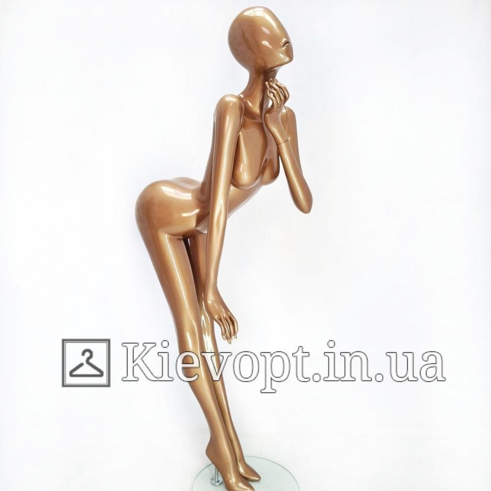 Манекен женский бронзовый для демонстрации одежды (101-07-24)