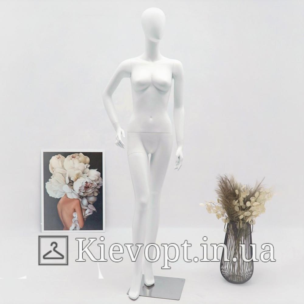Манекен женский матовый белый полноростовой (101-01-65)