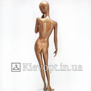 Манекен женский бронзовый в полный рост для одежды (101-07-25)