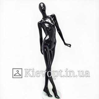 Манекен женский абстрактный черный для магазина одежды (101-07-23)