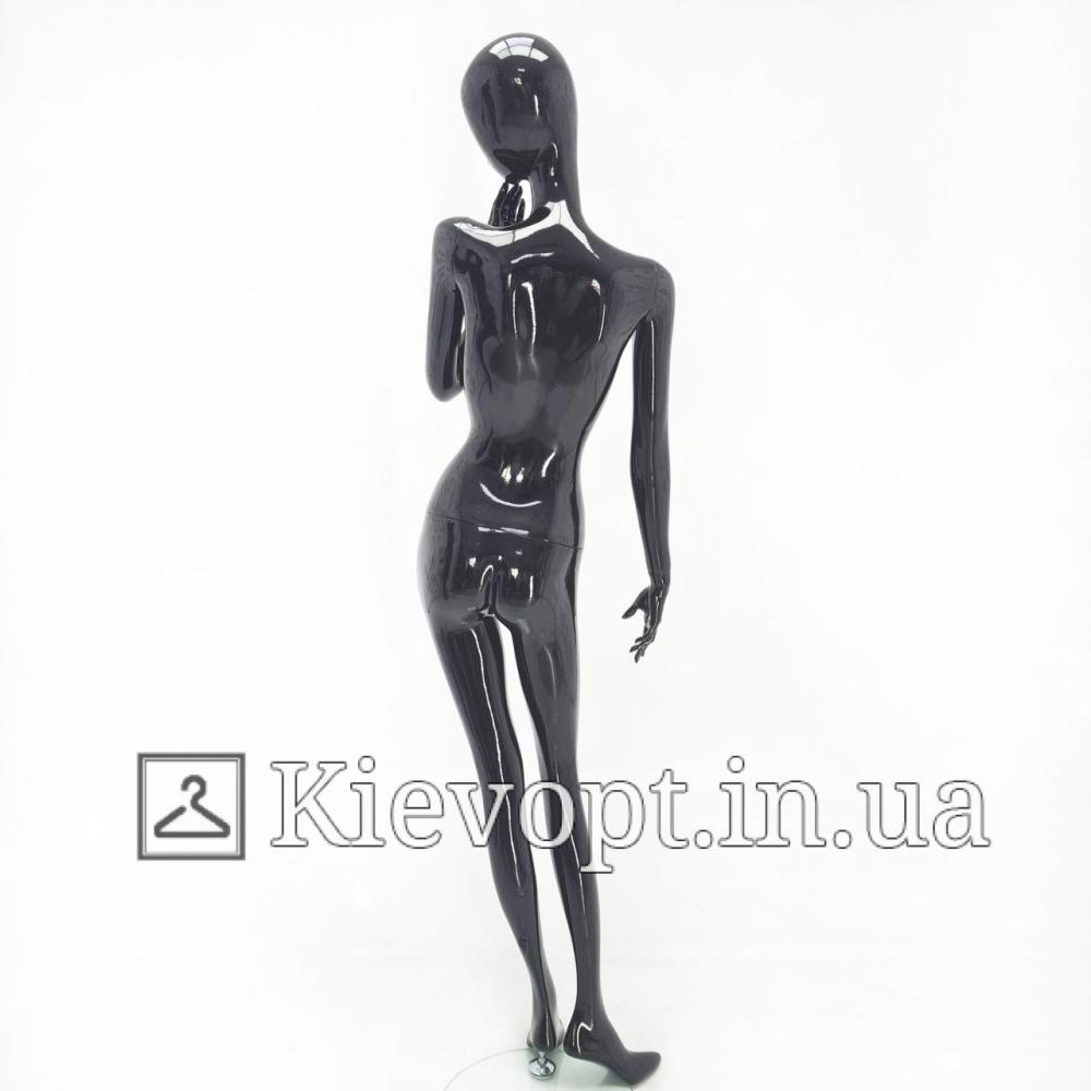 Манекен женский эксклюзивный черный для магазина одежды (101-07-22)