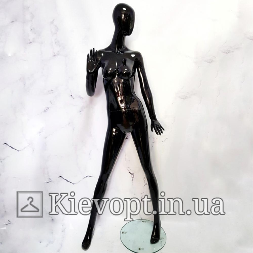 Манекен женский безликий гипсовый черный (101-01-46)