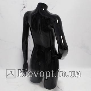 Манекен торс женский черный (104-01-02)