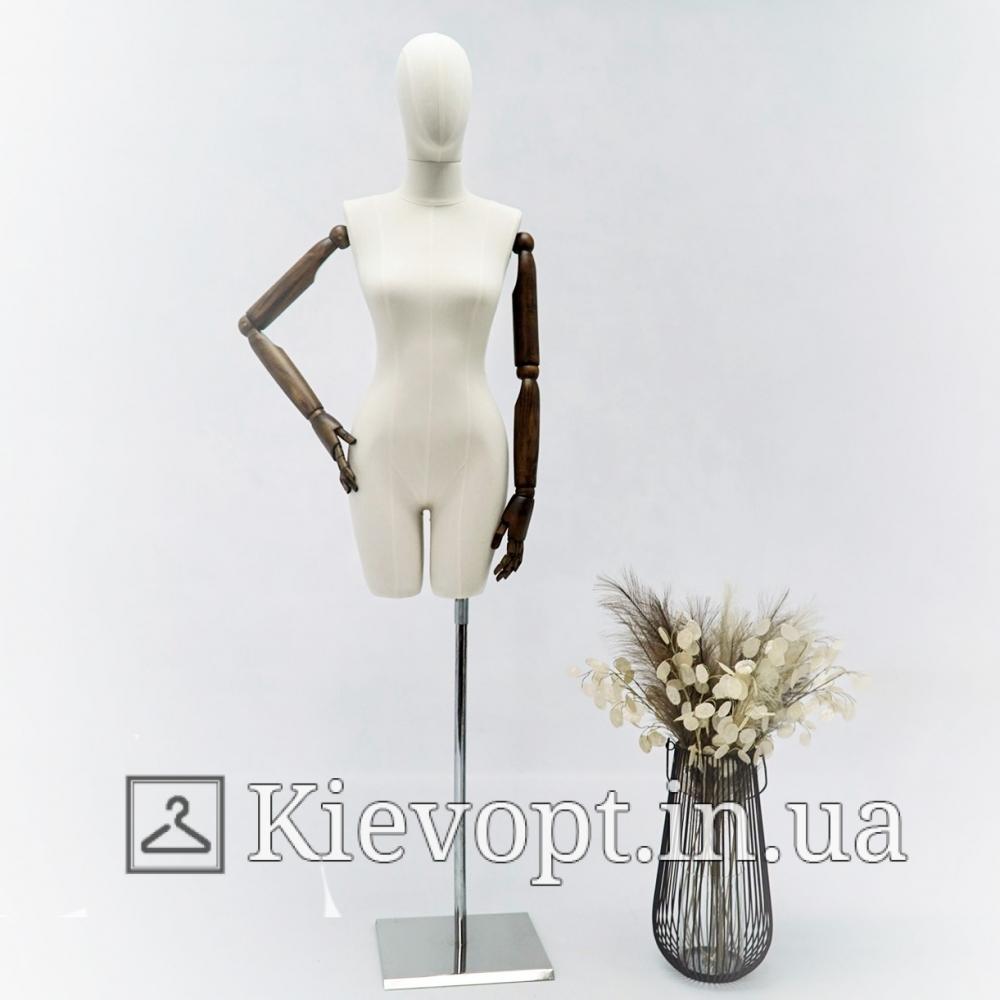 Манекен женский с деревянными руками на шарнирах (101-09-03)