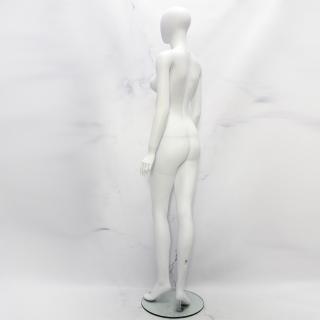 Манекен женский безликий матовый белый (101-01-48)