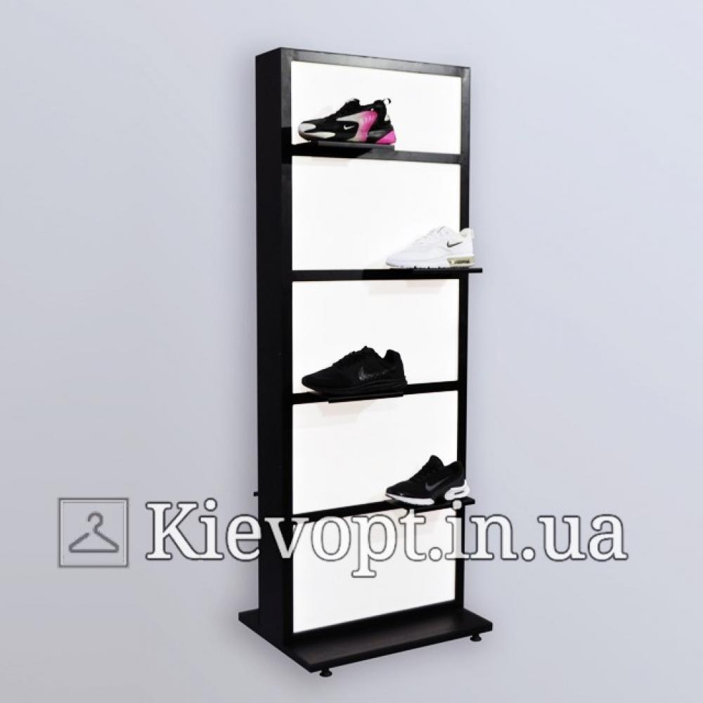 Стойка для демонстрации обуви двусторонняя с подсветкой (800-01-01)