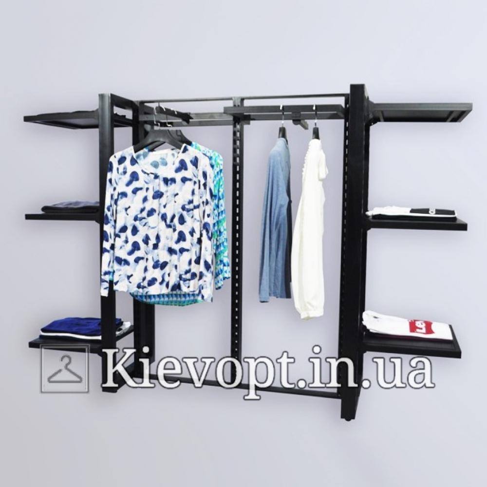 Стойка с полками для магазина одежды (800-01-03)