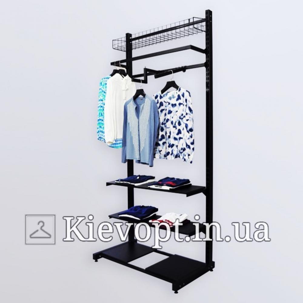 Стойка - вешалка пристенная для одежды (800-01-09)