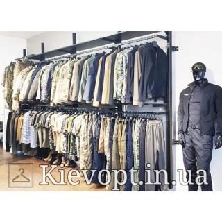 Настенное торговое оборудование для магазина одежды (800-01-11)