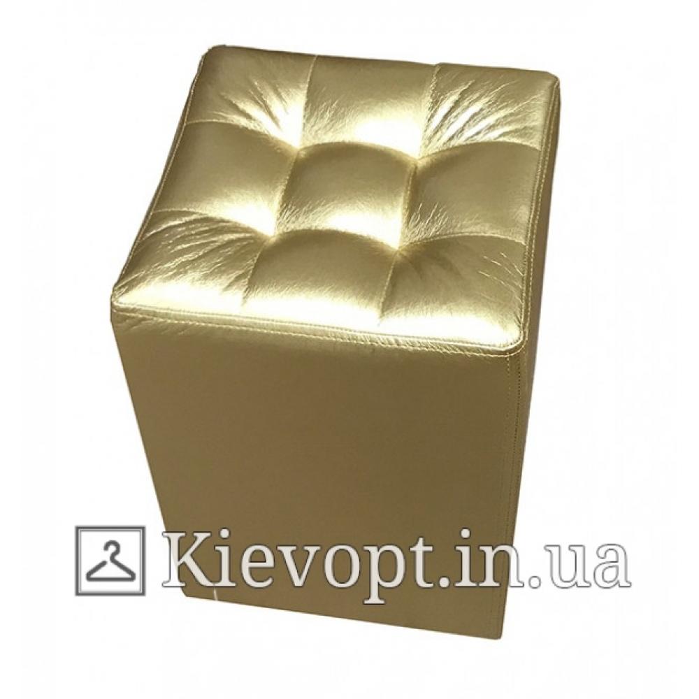 Пуф (банкетка) для магазина экокожа золотого цвета