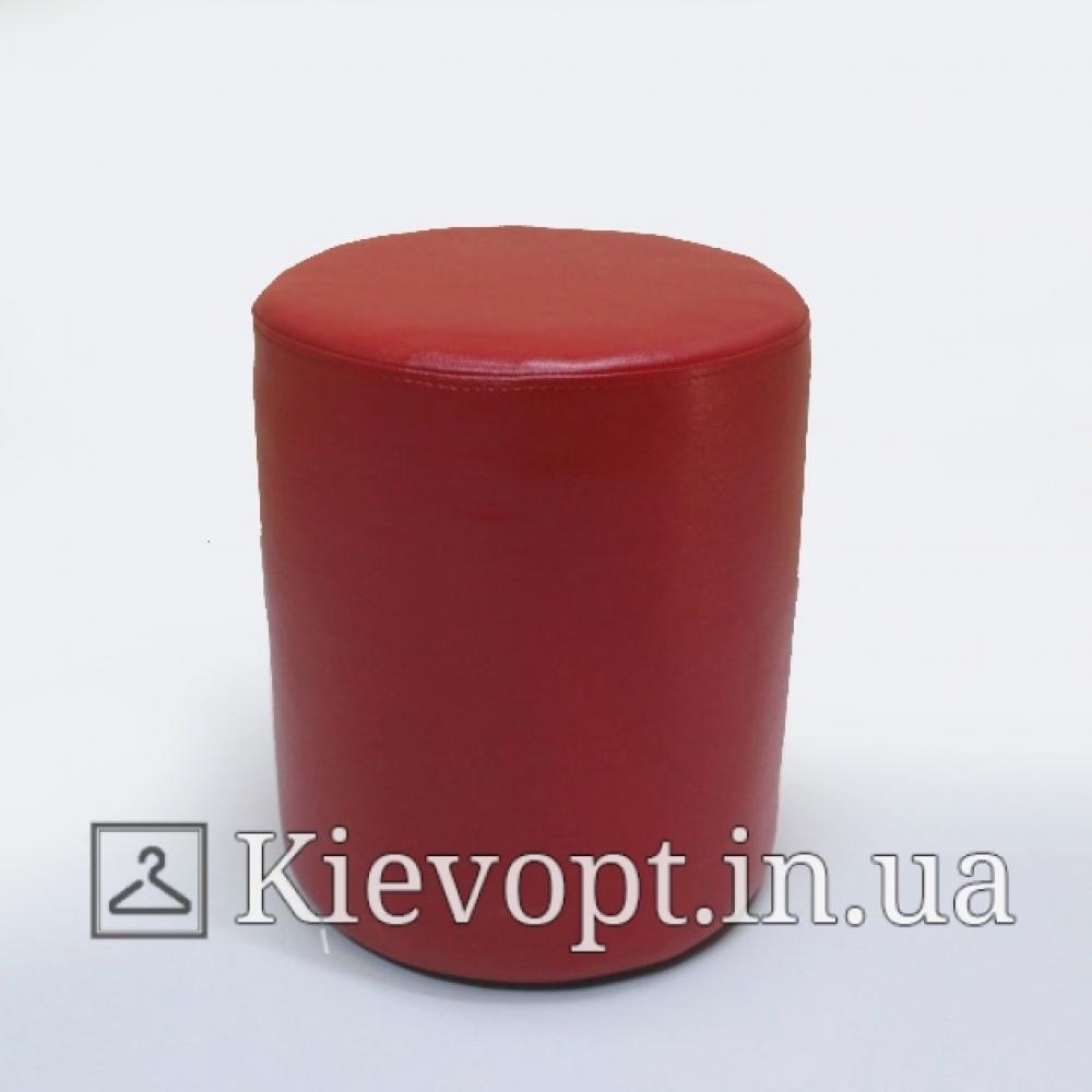 Пуф (банкетка) красный для магазина круглый
