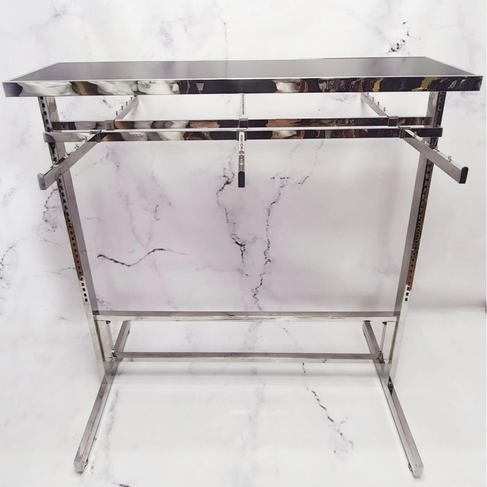 Торговая стойка вешалка напольная на 6 съемных кронштейнов флейт