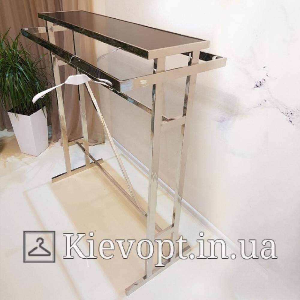 Стойка - вешалка напольная с подиумом для одежды