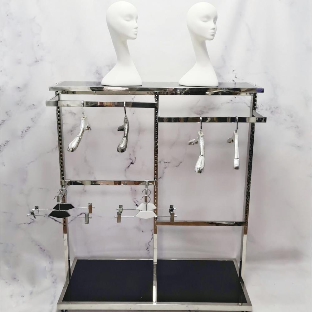 Торговая стойка вешалка напольная для магазина одежды