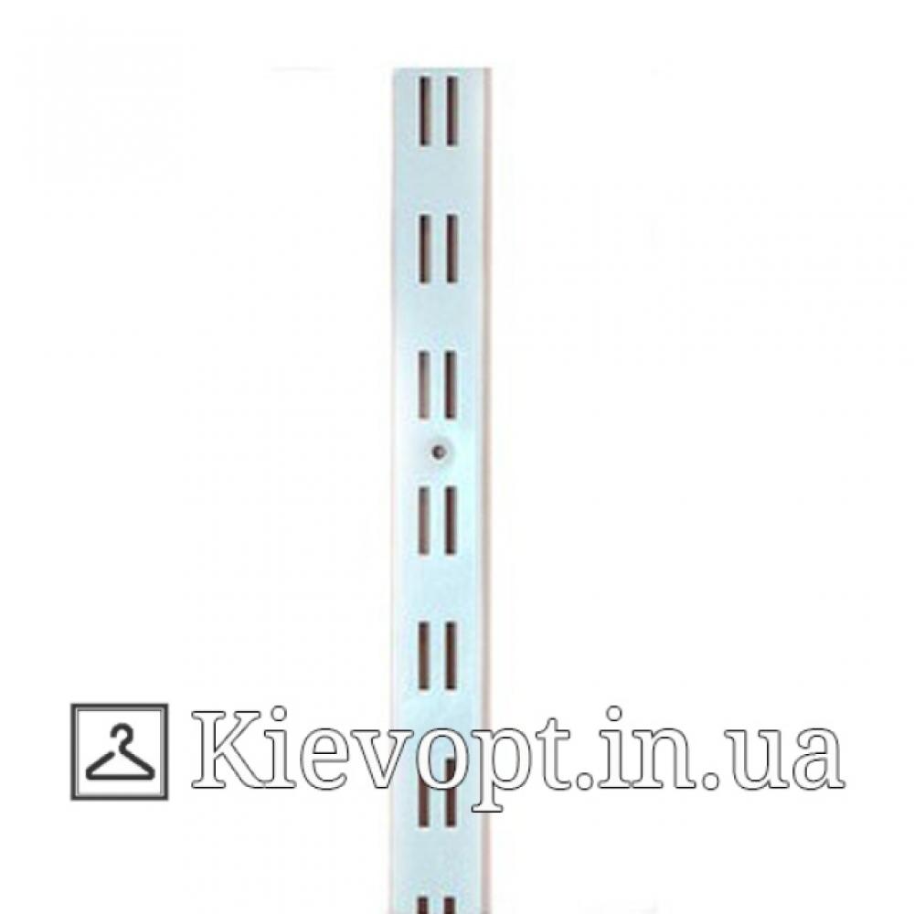 Рейка (профиль) двухрядная белая, 2 м